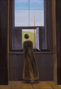 Donna alla finestra - Caspar David Friedrich