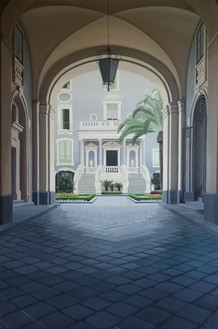 Il cortile di Palazzo San Giuliano
