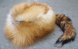 RED FOX HAT LINED W/TAIL