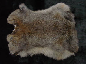 NATURAL RABBIT SKIN