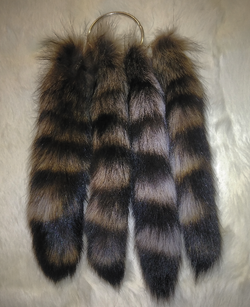 DYED RACCOON TAILS
