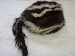 SKUNK HAT LINED W/TAIL