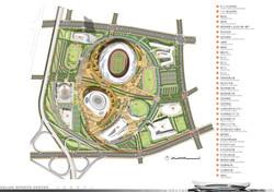 Dalian Sports Complex Siteplan