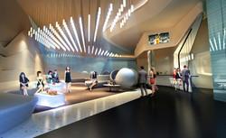 Soccer Stadium VIP lounge