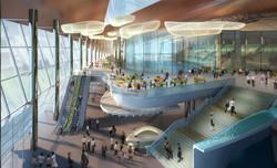 Swimming Stadium Atrium