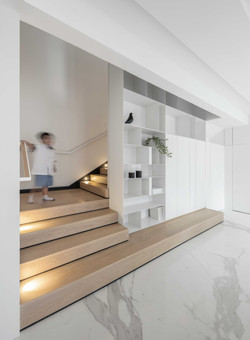 Staircase . Book shelve