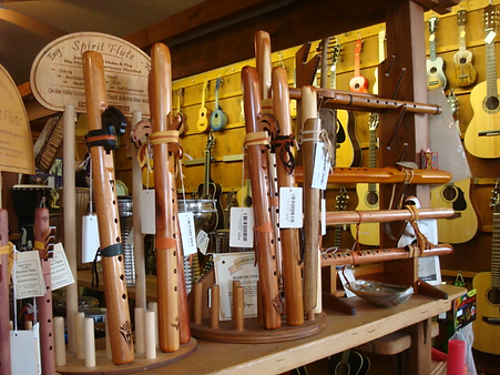 Native American Flutes at The Folk Shop