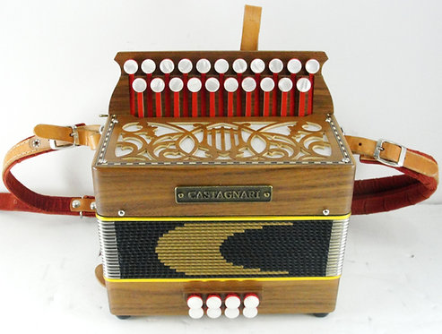 Castagnari Button Accordion w/ Case