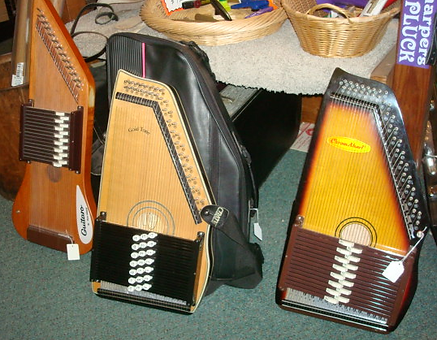 Autoharps at The Folk Shop