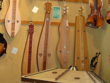 Mountain Dulcimers & Hammer Dulcimers at The Folk Shop