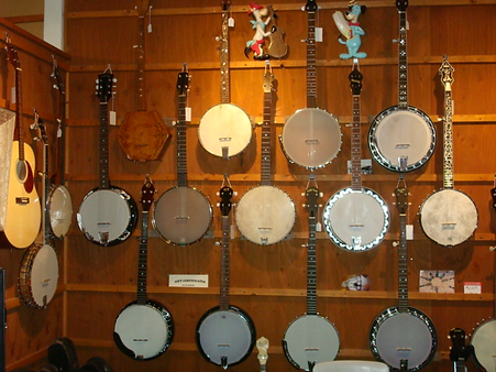 Banjos at The Folk Shop
