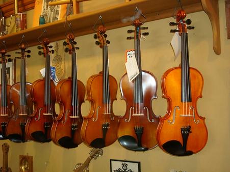 Fiddles Violins at The Folk Shop