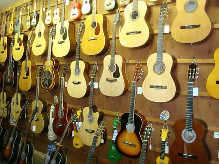 Guitars at The Folk Shop