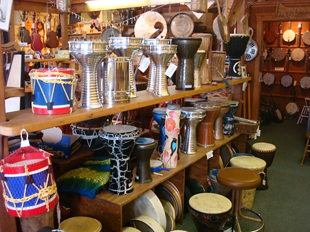 Percussion, Drums, Bodhrans, Tambourines, Maracas