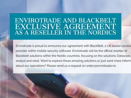 Envirotrade has signed an exclusive Reseller Agreement with Blackbelt.