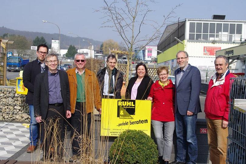 Dirk Haas und SPD Buseck bei Firma Ruhl