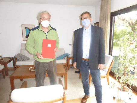 Ehrung des SPD-Mitglieds Dr. Eckhardt Bayer