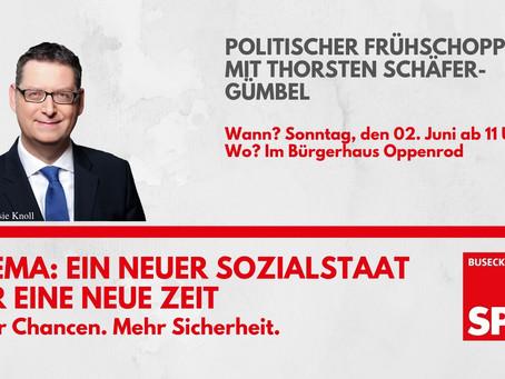 Einladung: Politischer Frühschoppen mit Thorsten Schäfer-Gümbel