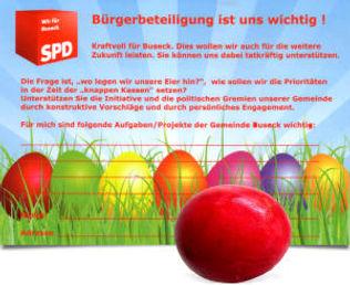 SPD Buseck Osteraktion 2012