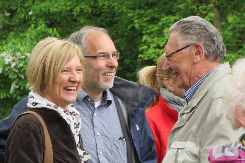 Anita Schneider und Dirk Haas im Gespräch