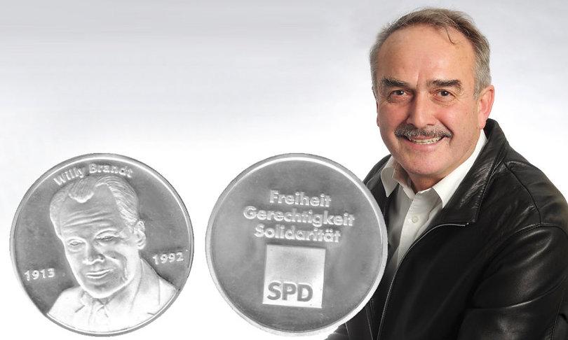 Willy Brandt Medallie Erich Hof