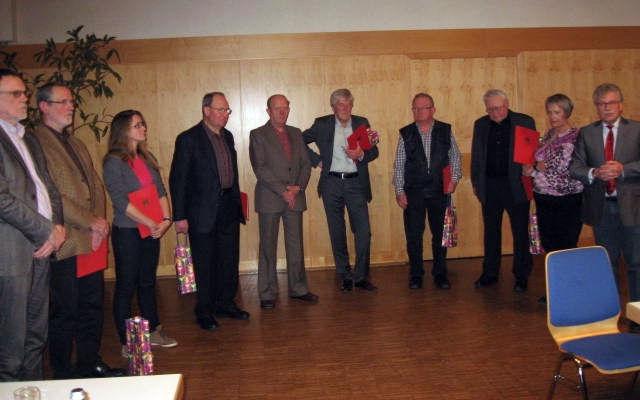 Mitgliederehrung SPD Großen Buseck 2013