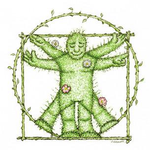 Vitruvian GreenMan