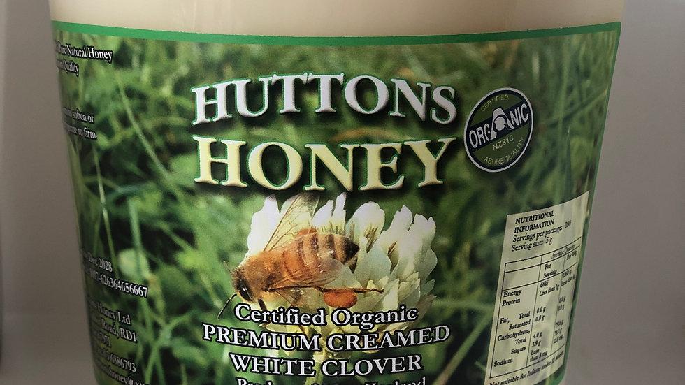 2 kg Certified Organic Creamed Clover Honey