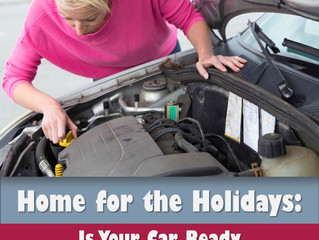 Before You Leave For The Holidays, Car Care Checklist
