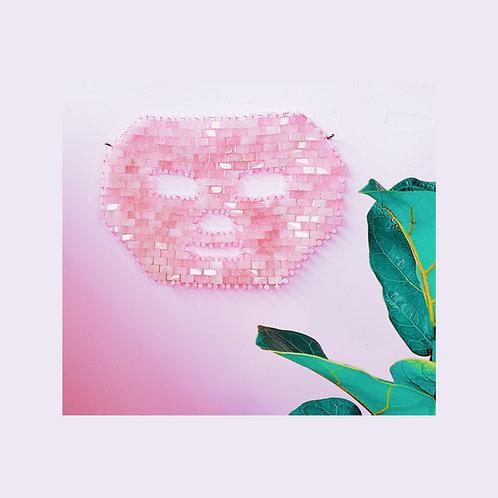 Rose Quartz Stone Face Mask