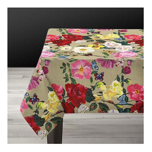 """Nappe rectangulaire """"ROSES"""""""