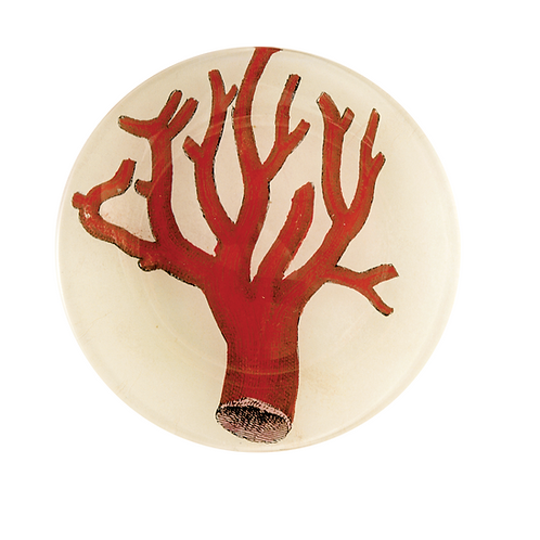 "Assiette ronde ""Red coral"" 13cm"
