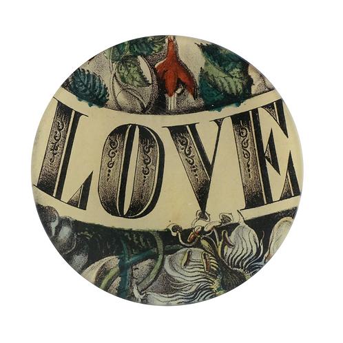 """Assiette ronde """"Love"""" 13cm"""