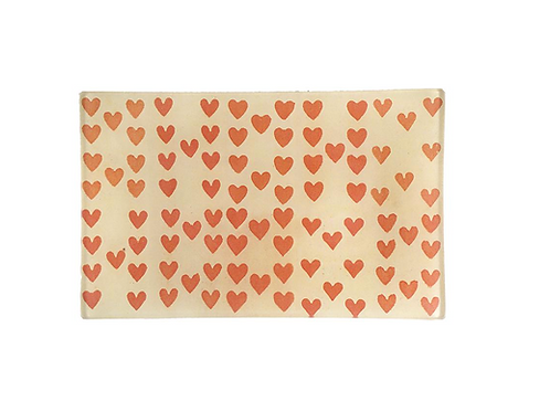 "Assiette rectangulaire ""Heart Rows"""