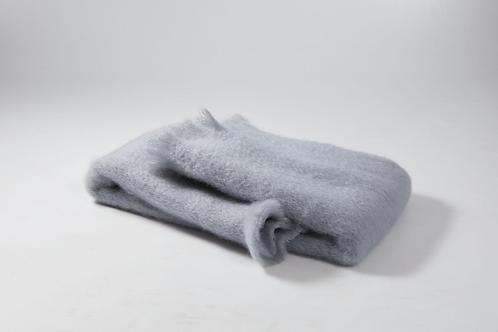 Echarpe ou foulard en Mohair couleur Gris indigo