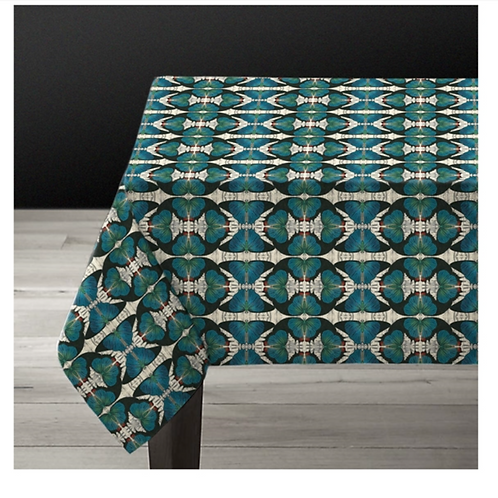 "Nappe rectangulaire ""Blue Butterfly"""