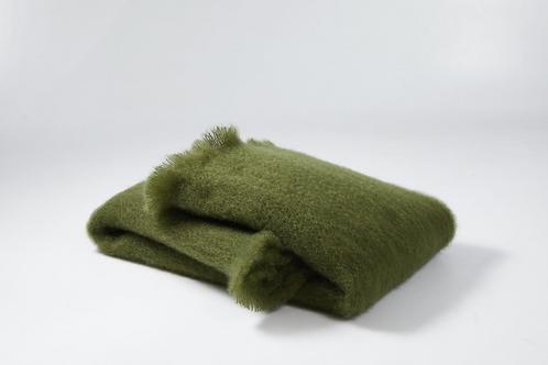 Echarpe ou foulard en Mohair couleur vert bouteille
