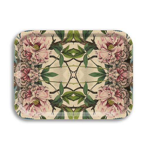 "Plateau rectangulaire  ""Peonies"""