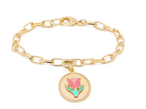Bracelet en vermeil 18 carats Tulipe WILHELMINA GARCIA