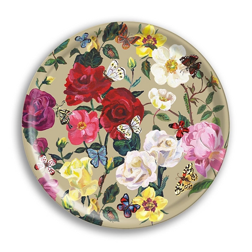 """Plateau  rond """"Roses"""""""