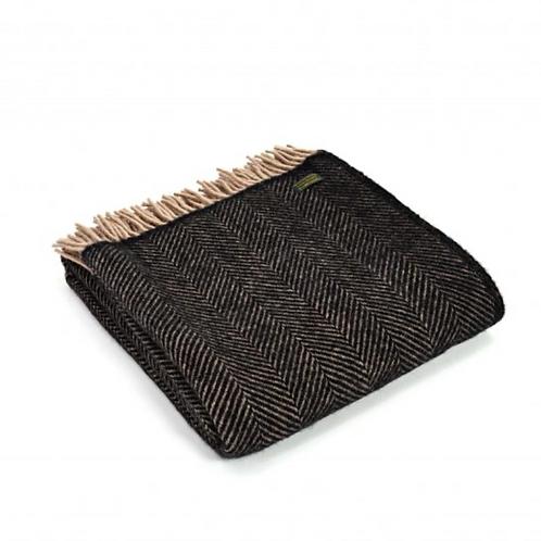 Plaid Pure laine vierge Herringbone Vintage