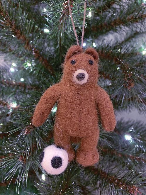 Décoration de Noël Soccer Bear