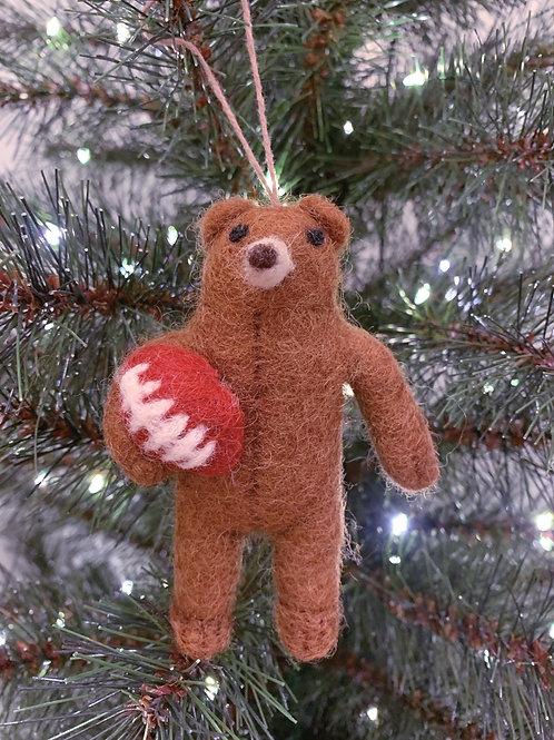 Décoration de Noël Rugby Bear