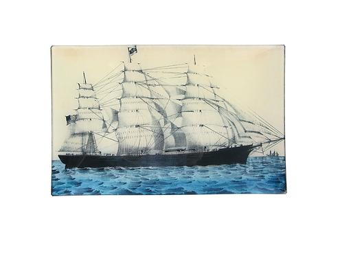 "Grande Assiette decorative ""Clipper Ship"" John Derian"