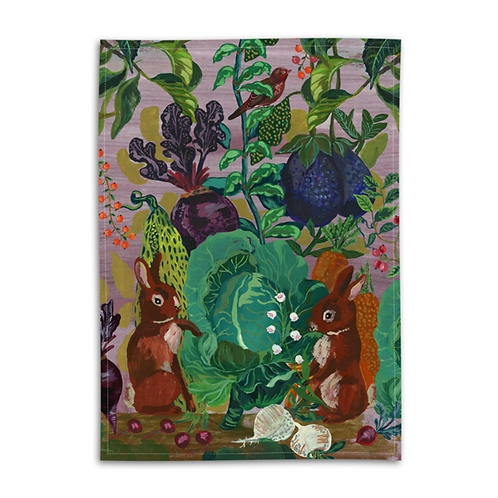 """Torchon """"THE RABBITS IN THE CABBAGE"""""""