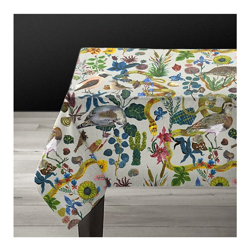 "Nappe rectangulaire 1m5*2m ""Birds in the dunes"""
