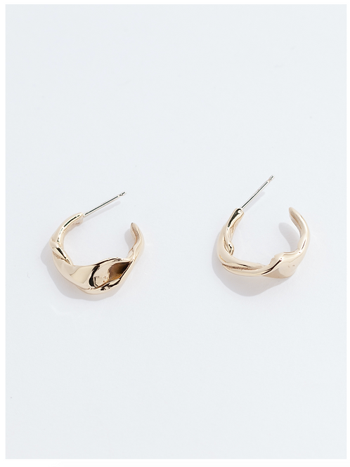 FARIS Twist hoops bronze