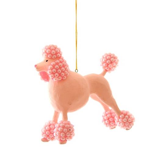 Décoration de Noël Caniche Perlé