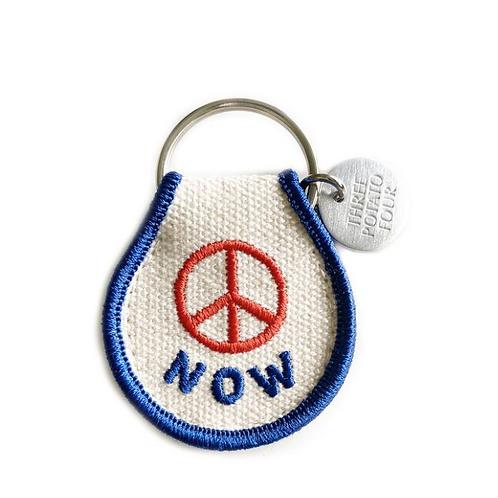"""Porte clés Patch """"Peace Now"""""""