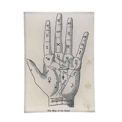 """Assiette rectangulaire """"The map of the hand"""""""